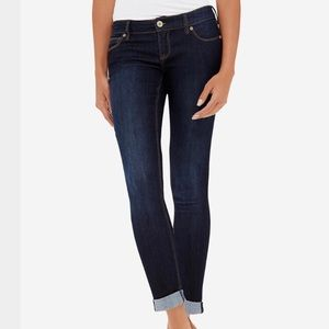 The Limited Rolled Cuff Dark Skinny Ankle Jeans